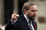 New Democratic Party leader Thomas Mulcair speaks during Question Period in the House of Commons on Parliament Hill in Ottawa November 6, 2013. REUTERS/Chris Wattie (CANADA - Tags: POLITICS)